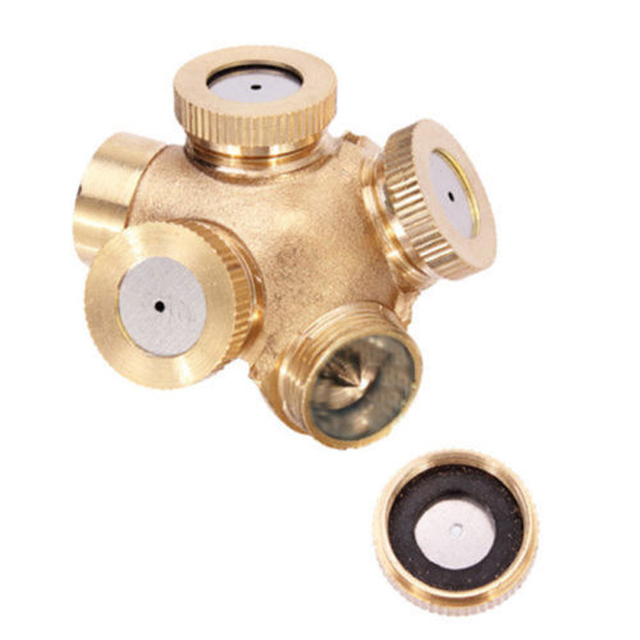 4 Hole Adjustable Brass Spray Misting Nozzle Garden Sprinklers Watering Irrigation Fitting Home Gardern Tools Mayitr 1