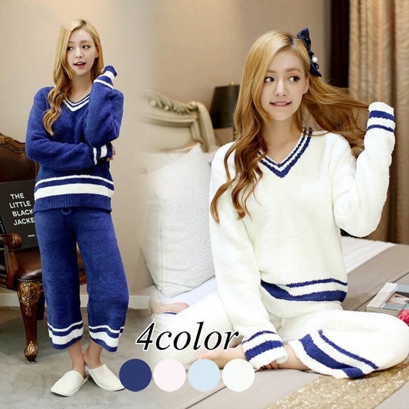 big girls pajamas pyjamas kids children sleepwear Suit Thick Warm Cute Sleeping Clothes Coral fleece girls Pajama Set Homewear