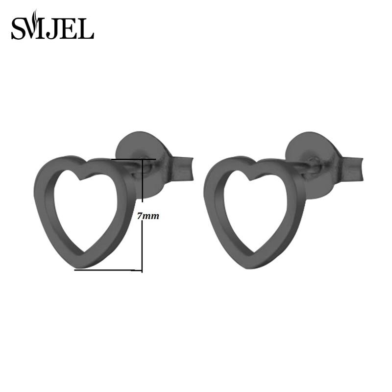 SMJEL, модные богемные ювелирные изделия из старинных серег, милые черные геометрические круглые серьги-гвоздики из нержавеющей стали, лучший подарок для женщин и девушек - Окраска металла: GED022