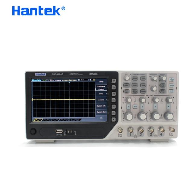 جهاز رسم الذبذبات الرقمي من Hantek طراز DSO4104C مع 4 قنوات 100 ميجا هرتز وعرض النطاق الترددي للكمبيوتر ذبذبات الذبذبات بشاشة عرض LCD USB