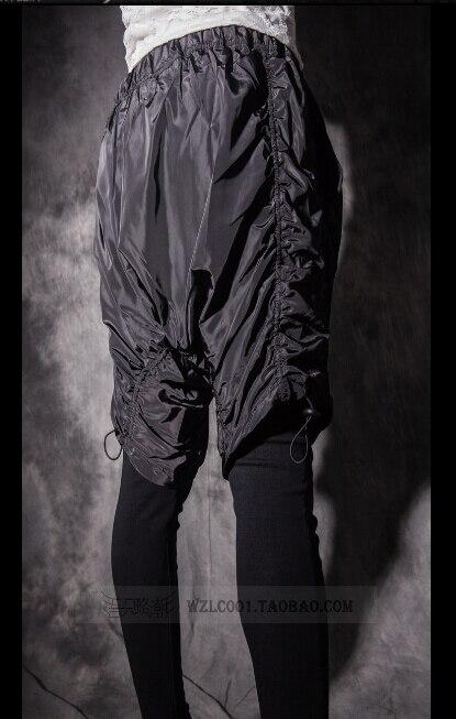 Хит 2020, Осенние новые индивидуальные мужские леггинсы, облегающие, имитация двух частей, повседневные штаны, певица, брюки для ночного клуба - 5