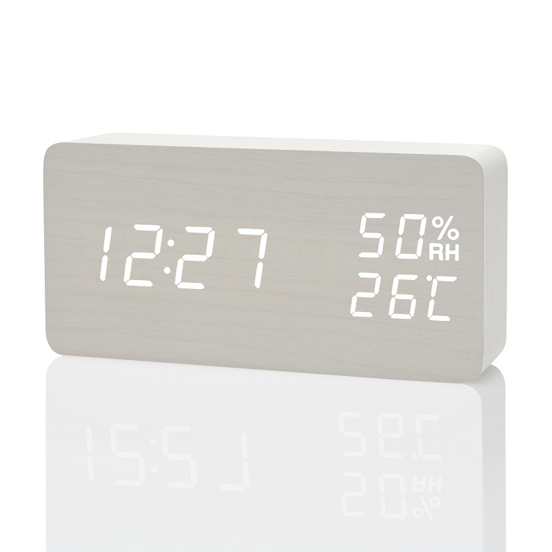 Image 2 - FiBiSonic Modern LED Alarm Clock,Despertador Temperature Humidity Electronic Desktop Digital Table Clocks-in Alarm Clocks from Home & Garden