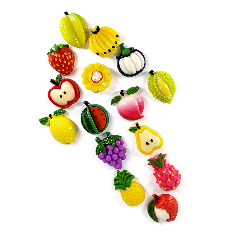 Mini Fruit Strawberry Apple Miniature Figure Artificial Food Pretend play Kitchen Toys Dinner Doll House Accessories Kids gift in Doll Houses from Toys Hobbies