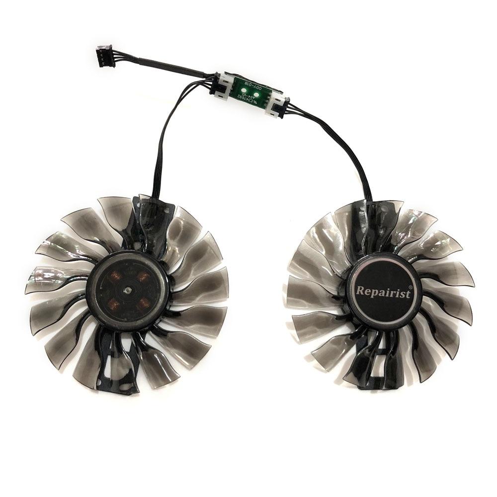 2pcs//Set 90MM Diameter VGA GPU Cooler Fan For Palit GTX970 GTX 970 JetStream 4 GB Video Graphics Cards Cooling As Replacement