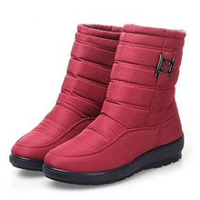 Winter Women Boots Down Boots Women Shoes Waterproof  Snow Boots Girls Winter Shoes Woman Plush Insole  Mid-Calf  Botas Mujer