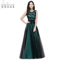 Black Long Mermaid Evening Dresses Gowns Satin Appliques Lace Beaded Party Dresses 2017