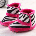 2016 Winter Baby Snow Boots Warm Toddler shoes Baby Girl Shoes Zebra Stripes  Newborn Baby Shoes