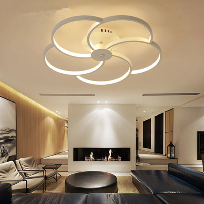 Led Living Room Ceiling Lighting Modern Simple And Creative IKEA Warm Romantic Style Study Marriage Master Bedroom Ligh