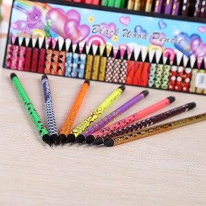 Image 3 - 100pcs kawaii nero matita di legno lotto creativo dipinta matite per la scuola ufficio di scrittura forniture carino matita HB con gomme da cancellare bulk