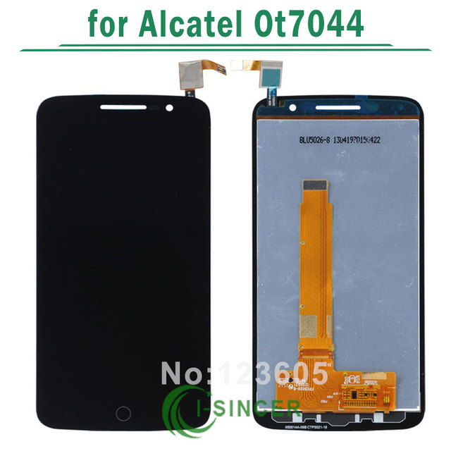 1/pcs para o alcatel one touch ot7044 7044 display lcd touch screen digitador assembléia frete grátis