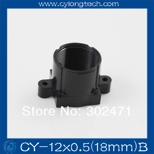 M12 lens mount ABS lens mount camera lens mount the ABS lens holder Fixed Pitch 18MM CY-12x0.5(18mm)B glass lens for flashlights 18mm 10 pack