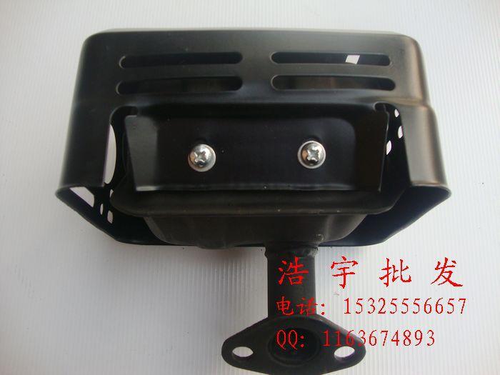 168F 170F GX160 petrol engine accessories silencer exhaust pipe muffler water pump (black)