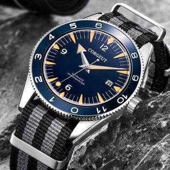 Luxuey 41mm Corgeut Sterile Black Dial Sapphire Glass Date Ceramic Bezel 21 Jewels Miyota Automatic Mechanical Men's Watch