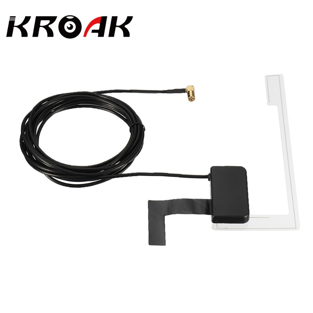Universal Car Window Glass Mount DAB Digital Car Radio Aerial Antenna Cable SMB For Pioneer AN-DAB1Right Angle Connector цена 2017