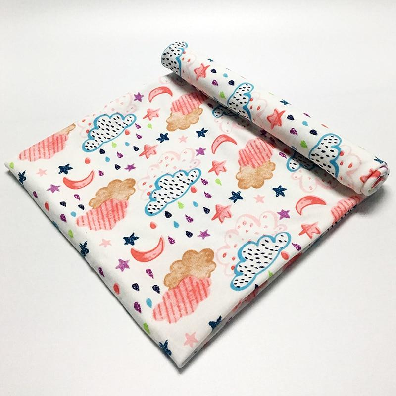 100% Cotton Baby Blanket Swaddle Cartoom Sengetæppe Badehåndklædekuverter til nyfødte Multifunktioner Baby Håndklæde Hold Wrap