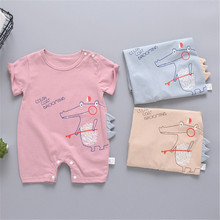 Summer baby clothes New born unisex rompers Short sleeve cut