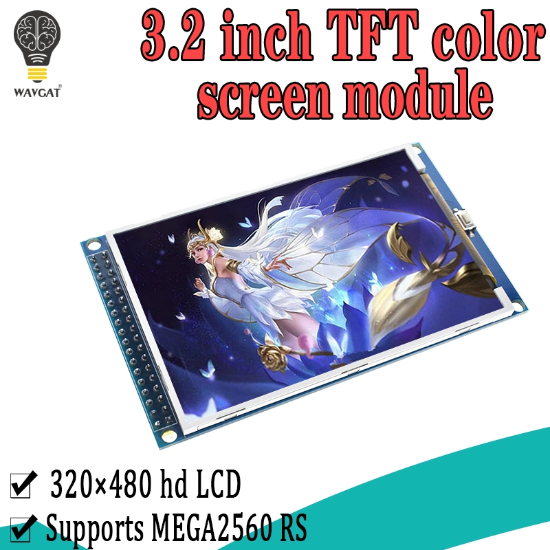 WAVGAT <font><b>3.2</b></font> inch <font><b>TFT</b></font> LCD screen module <font><b>3.2</b></font>'' HD 320X480 For <font><b>Arduino</b></font> MEGA2560 R3 STM32 C51 Demo Board image