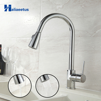 Haliaeetus Pull Out Kitchen Sink Faucet Flexible Kitchen Faucet Tap Hot And Cold Kitchen Mixer Tap