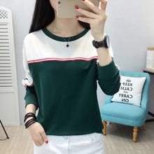 shintimes Striped Women Pullover Sweatshirt Long Sleeve Casual Autumn Sudadera Mujer 2019 Winter Hoodies Plus Size Woman Clothes