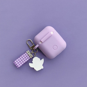 Image 3 - Super Cute Little Angel Decor Silicone Case for Apple Airpods Bluetooth Wireless Earphone Accessories Headphone Protective Cover