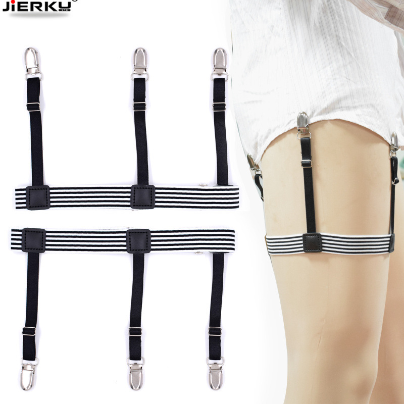 New Shirt Stays Holder Gentleman's Leg Suspenders Shirt Braces Elastic Uniform Business Strap Shirt Garters 1pair