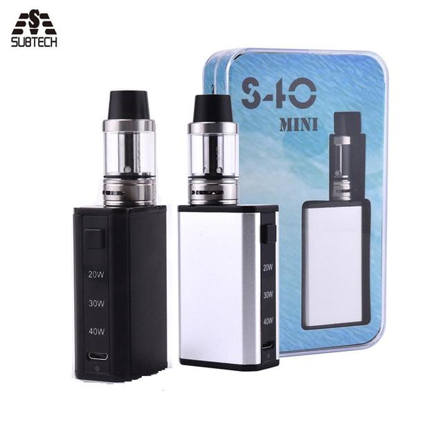Electronic Cigarettes Box Mod vape S40Mini  20W/30W/40W  Airflow Control Vaporizer 1600mah battery and  top filling E Cigarettes