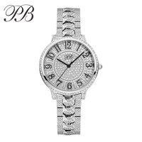 Lüks Marka Prenses Kelebek Zarif Bayanlar Bilek İzle Diamonds ile Avusturyalı Crystal Safir Rhinestone Bilek İzle HL642