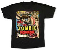 Beach Vacation Beach T Shirt Rob Zombie Picture Show Black T Shirt New White Official Band