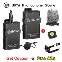 BOYA BY-WM4 Mark II телефон беспроводной микрофон для iPhone Android DSLR камера видеокамера ПК профессиональная аудио нагрудная гарнитура