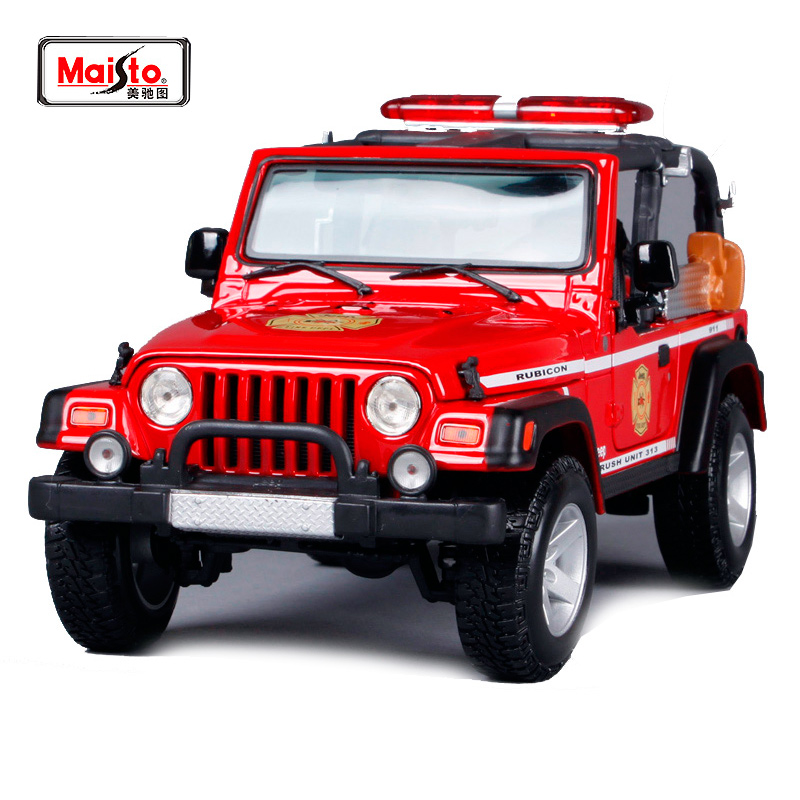 Maisto 1:18 JEEP Wrangler Rubicon (BRUSH FIRE UNIT) SUV Car Diecast Model Car Toy New In Box Free Shipping 36155 maisto 1 18 mini cooper sun roof diecast model car toy new in box free shipping 31656