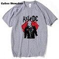 Guns N Roses Camiseta AxlDC Cara Pistolas slash guitarrista Rockero Camiseta de los hombres de Moda 2017 Nueva Manga Corta CottonTee Camisetas Hombre