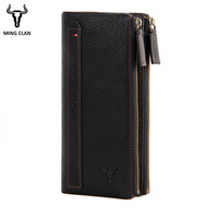 Mingclan Women Purse Long Clutch Zipper Wallet Big Capacity Cell Phone Pocket Card Holder Ladies Or Men Purse Hasp Wristlet Bag