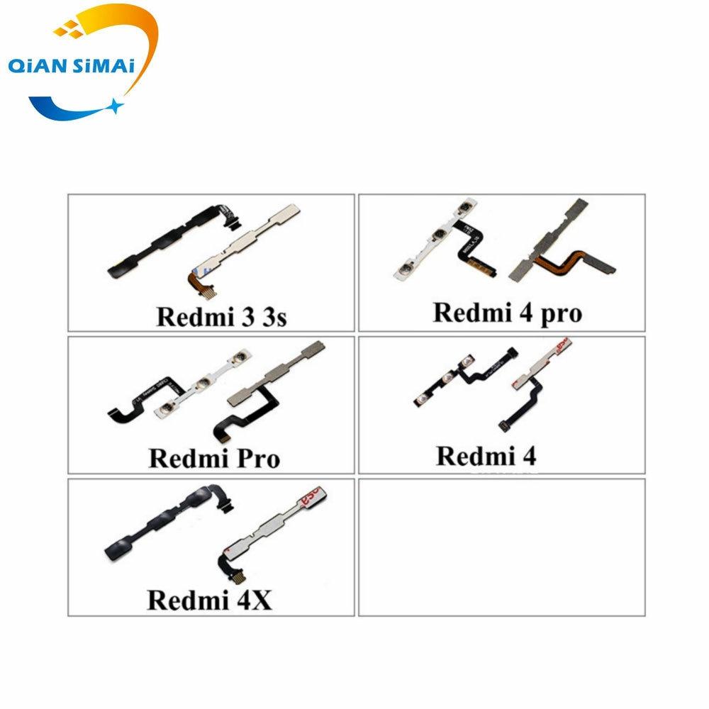 QiAN SiMAi 1PCS New Volume & Power On/off Button Flex Cable For Xiaomi Redmi Pro 3 3S 4 4Pro 4X 4A Phone