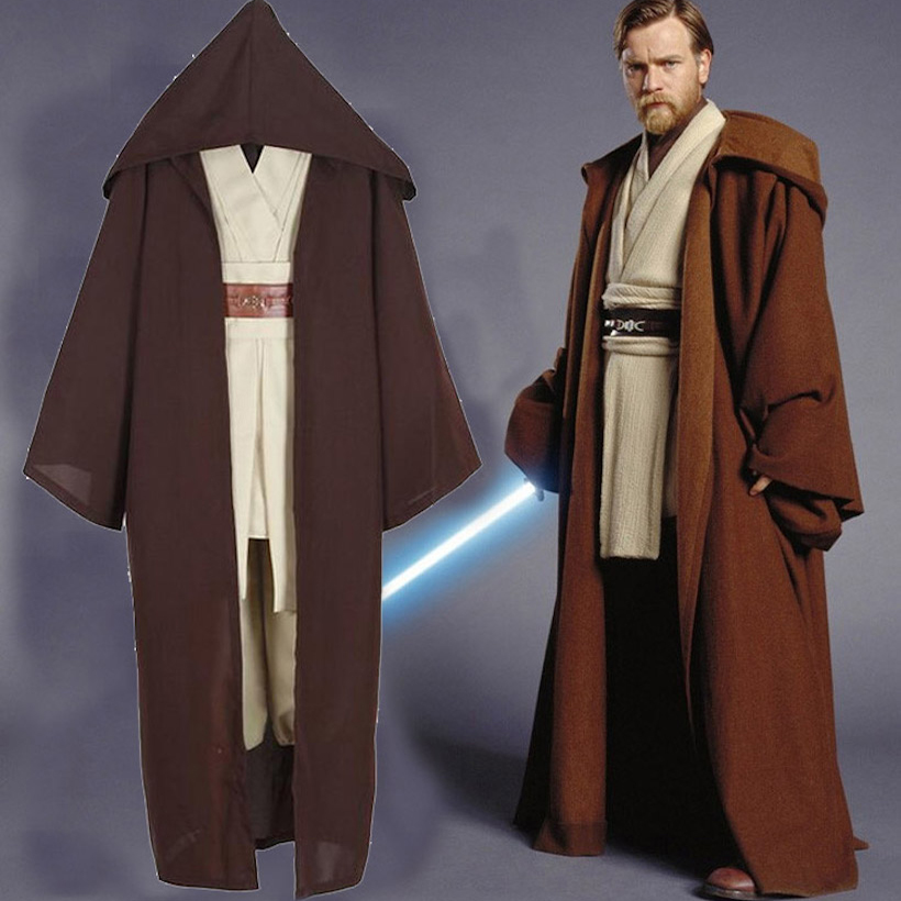 Custom Star Wars Obi-Wan Kenobi Jedi Knight Cosplay Costume Cloak Suits Any Size
