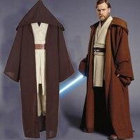 Custom Made Star Wars Obi Wan Kenobi Cosplay Costume Halloween TUNIC Jedi Knight Hooded Cloak Robe Adult Mens Uniform