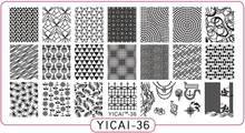 YICAI36 Original Design Nail stamping plates Metal Nail Art Print Stamping Plates Quality Wave 1pc Nail Polish Template Manicure цены
