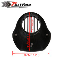 GRILLE Style Grill Prison Cowl Cafe Headlight Mask Front Fairing Flyscreen Fly Screen Visor For Harley