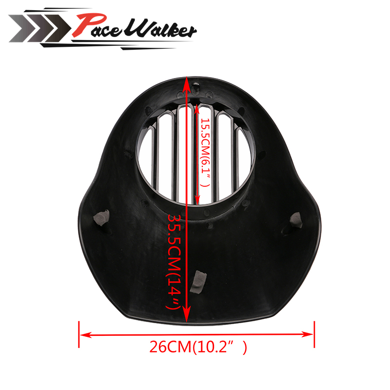 GRILLE-Style Grill Prison Cowl Cafe Headlight Mask Front Fairing Flyscreen Fly Screen Visor For Harley Dyna Sportster XL 883 red 5 3 4 motor vehicle headlight fairing bezel mask front visor cowl cover for harley cafe racer sportster dyna xl 883 3757