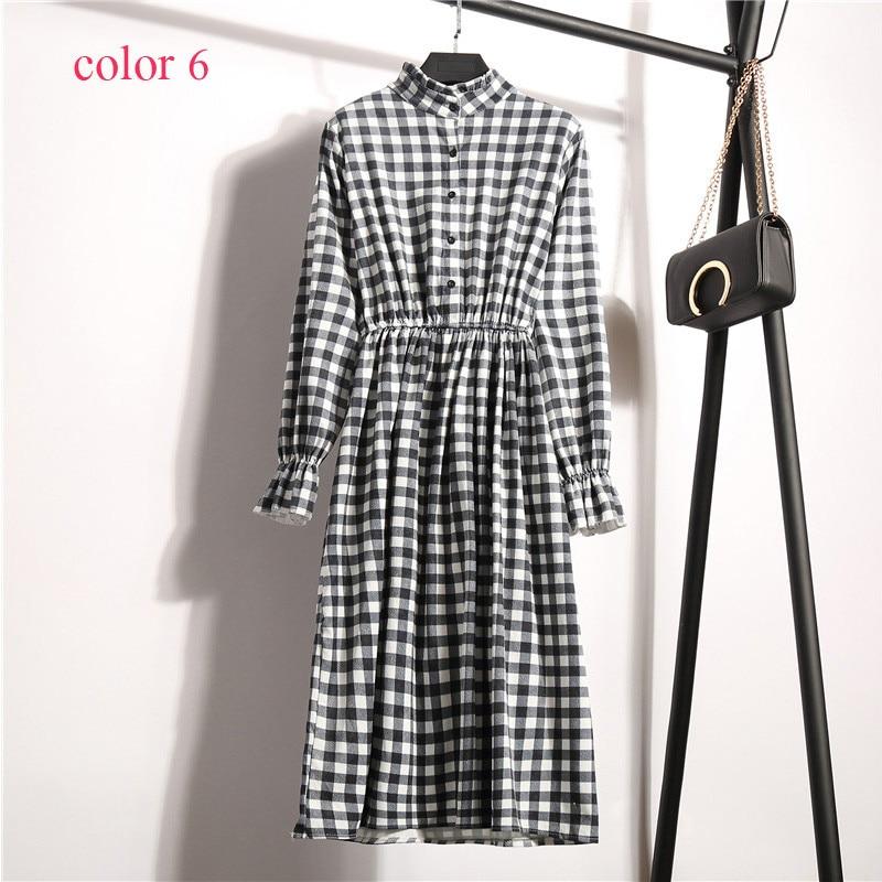 High Elastic Waist Vintage Dress 4