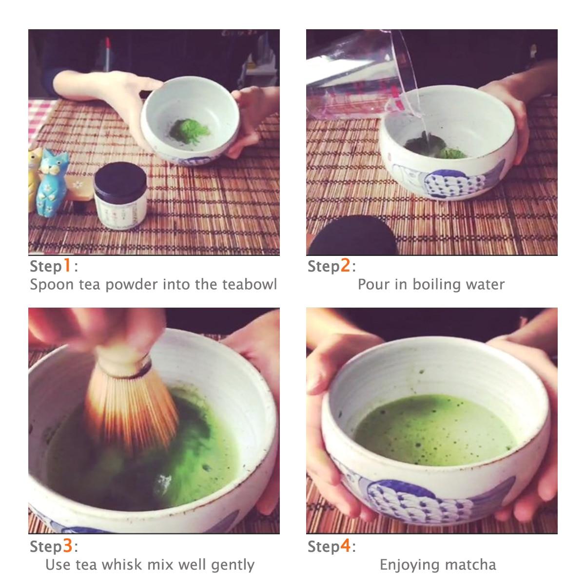 chasen batedor de matcha chashaku vasilha de chá matcha em casa acessórios