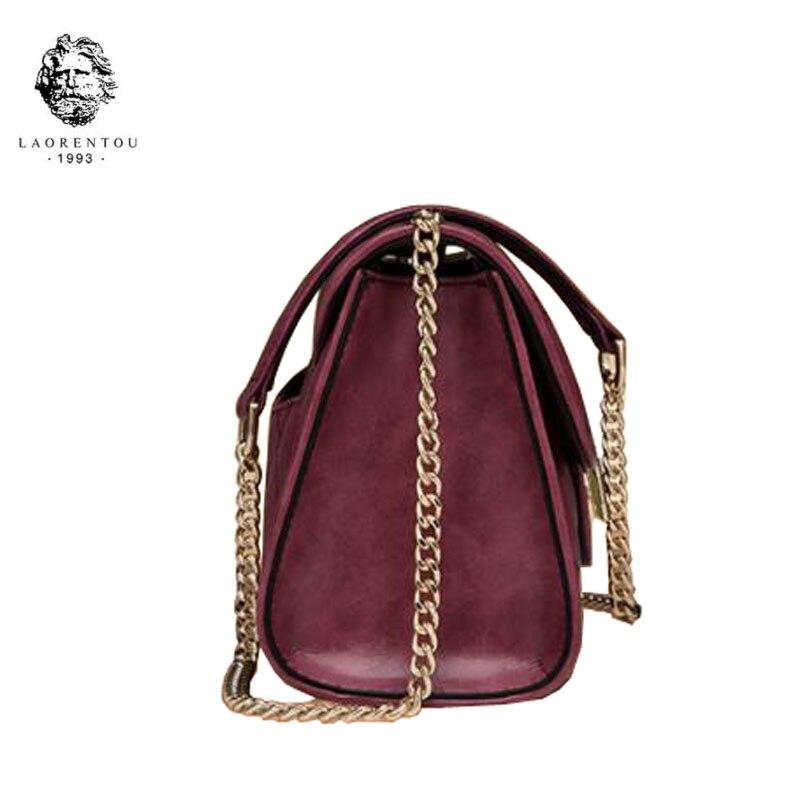 Laorentou En Chaîne Sacs Bandoulière Petite Cuir Mode Et Nouvelles Purple Main À De pink black Sac Femmes Luxe rztxrwqB