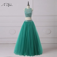 ADLN Delicate Beaded Luxury Quinceanera Dresses 2017 Green Sweet 16 Dress Two Piece Debutante Gown Customized