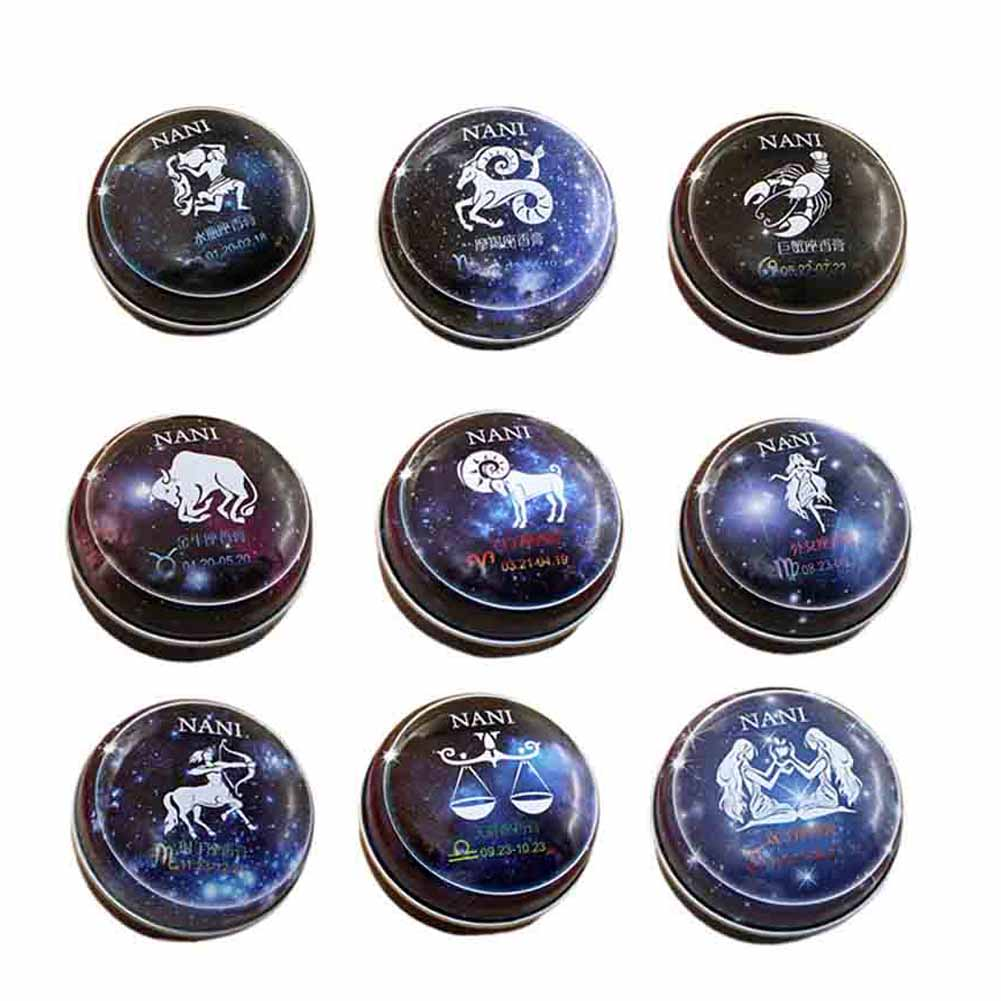 1 Pc New 12 Signs Constellation Zodiac Perfumes Magic Solid Perfume Deodorant Solid Fragrance For Women Men
