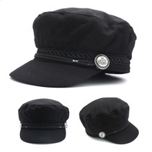 1 piezas gorras de béisbol moda Otoño y el invierno gorra plana sombreros para  mujeres niñas Inglaterra estilo sólido Casual Cas. 713cc6983a9