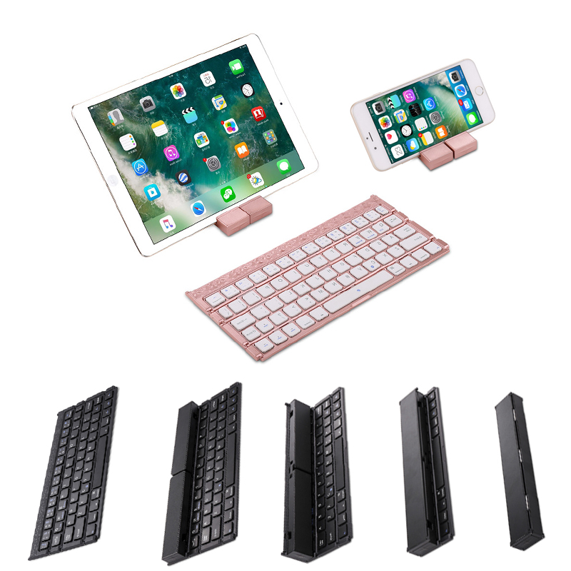 Clavier Bluetooth pliable Portable pour Windows IOS Android pour iPad/téléphone Portable/tablette support universel clavier léger