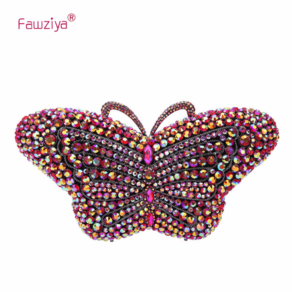 Fawziya Evening Clutches Women With Crystal Rhinestone Butterfly Clutch Bag In A Bags For Womens Purses fawziya apple clutch purses for women rhinestone clutch evening bag