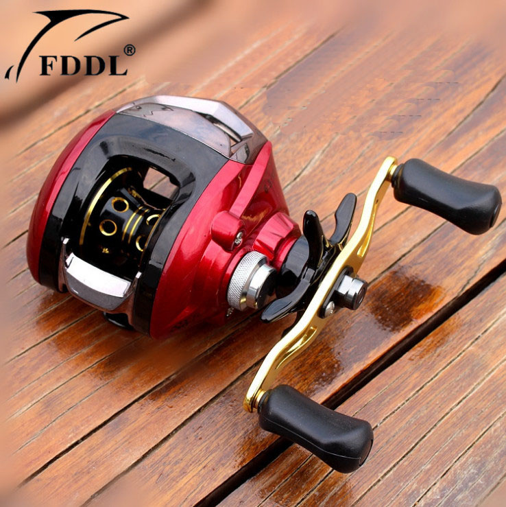 2018 FDDL magnetic brake fishing road line water wheel left/right hand red yellowall metal head rods fishing reels