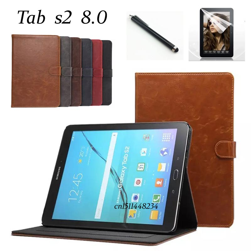 High Quality Business Stand Smart Case For Samsung Galaxy Tab S2 8.0 PU Leather Cover Tab S2 Sm-T710 T713 T715 T719 With Magnet