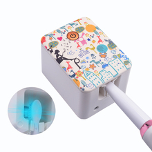 Sarmocare B200UV Light Toothbrush Sterilizer Box Ultraviolet Antibacterial Toothbrush Cleaner USB Rechargeable Toothbrush Holder