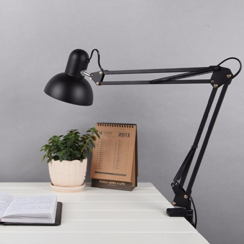 Study Table Light Us 44 31 White Black Red Iron Elegant Study Table Lamp Us Plug Modern Be Folded Scalable Desk Light Push Button Switch For Home Office In Desk Lamps